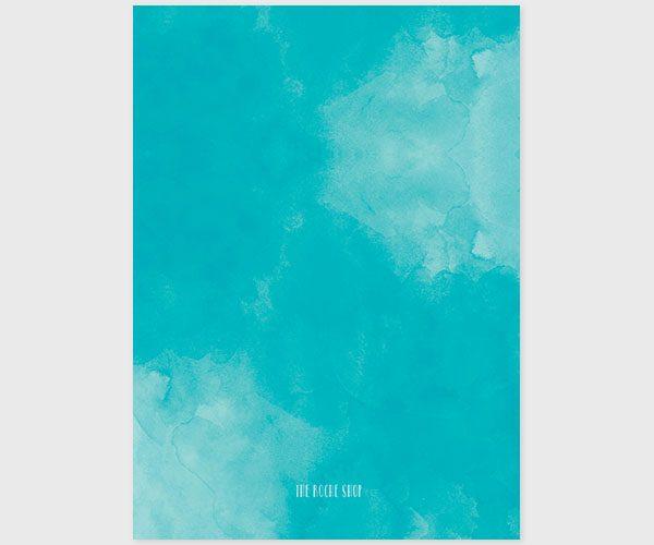 Aqua watercolor baby shower invitations