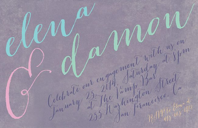 pastel Engagement Party Invitations