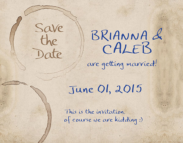 THE BRIANNA - Vintage Postcards / Coffee Stained Grunge Save the Date Cards