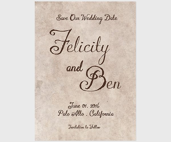 THE FELICITY - Mason jars save the date card
