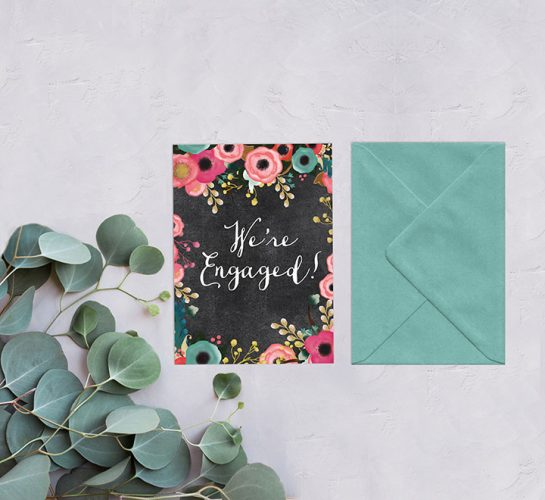 Spring Flowers Engagement Party Invitations