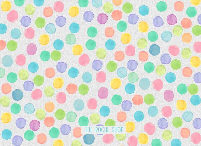 THE DOROTHY- Watercolor polka dots baby or birth announcements