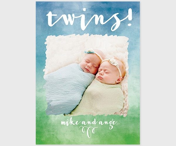 twins birth announcements