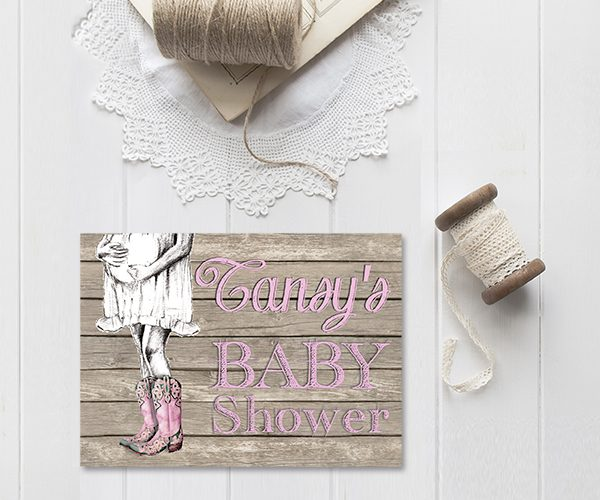 Cowboy Boots Baby Shower Invitations