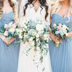 niagara blue bridesmaid dress