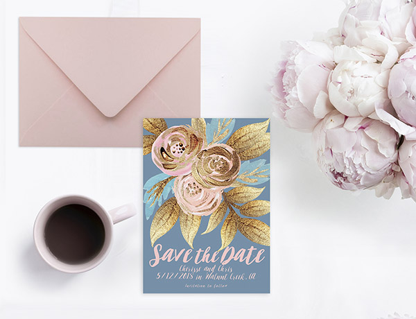 Niagara blue save the date cards