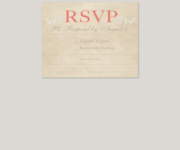 THE ROBIN - rustic chic wedding invitations