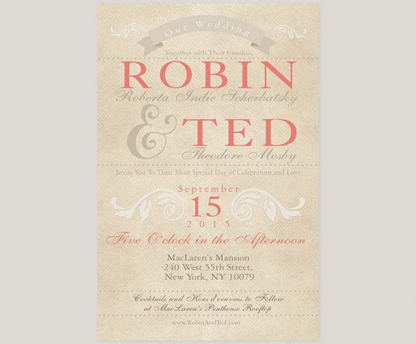 rustic chic wedding invitations