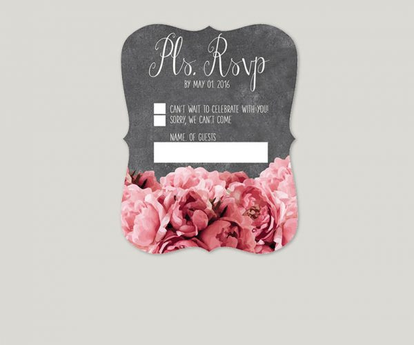 THE JESSICA - Coral pink peonies on mason jars wedding invitations