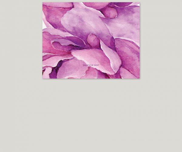 THE KATY - Purple peonies watercolor wedding invitations