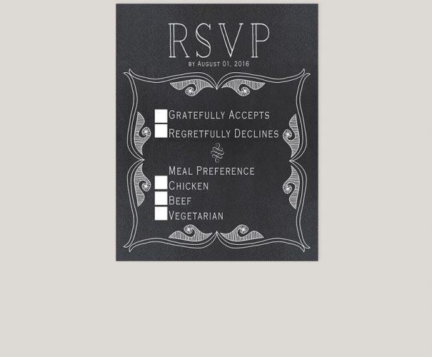 THE OLIVIA - Gatsby-inspired chalkboard wedding invitations
