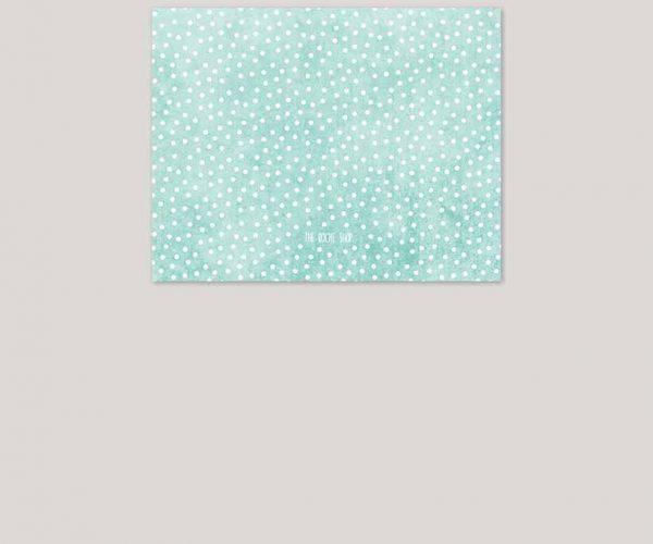 THE SELENA - Mint & coral polka dot bunting wedding invitations