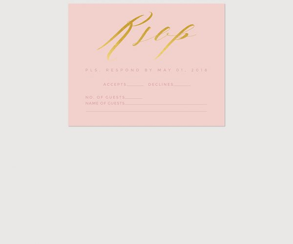 THE STEPH – Blush & gold calligraphy wedding invitations