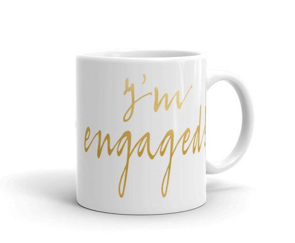 we're engaged - engagement coffee mug
