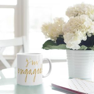 im engaged - engagement coffee mug
