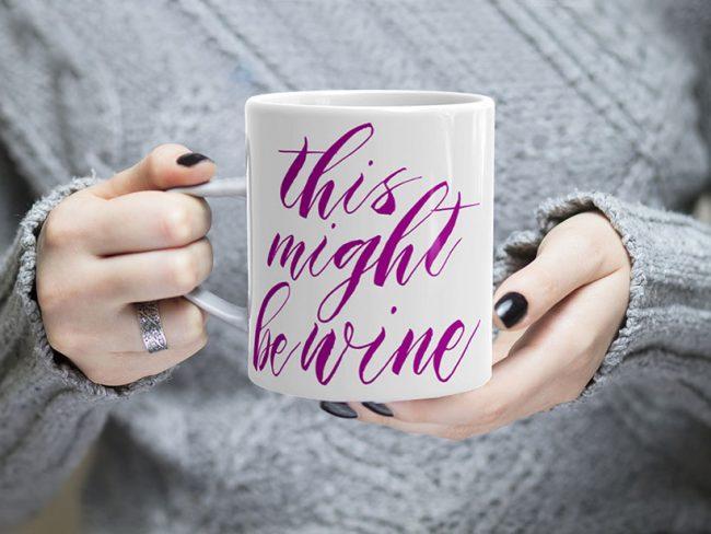 This Might Be Wine Coffee Mug - Purple