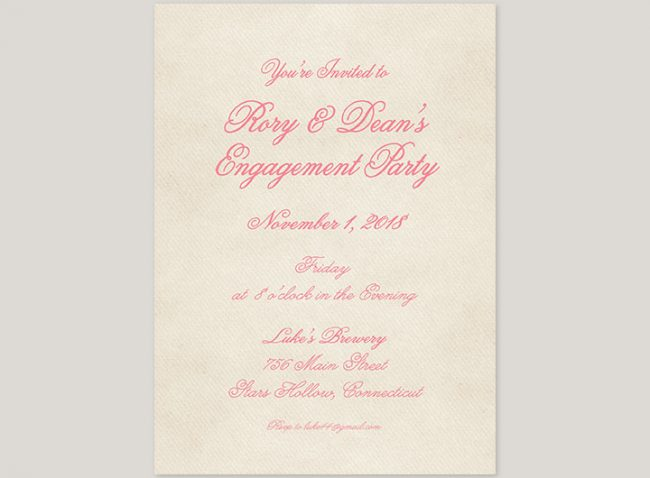 Romantic Coral Pink Ranunculus Engagement Party Invitations