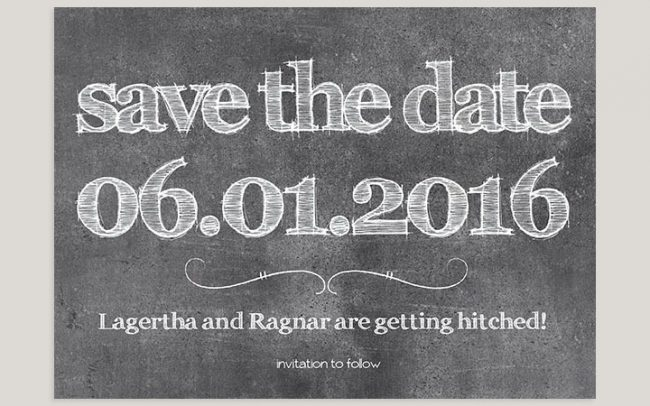 Free funny chalkboard save the date cards