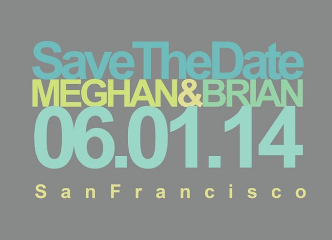 Grey modern chic save the date cards