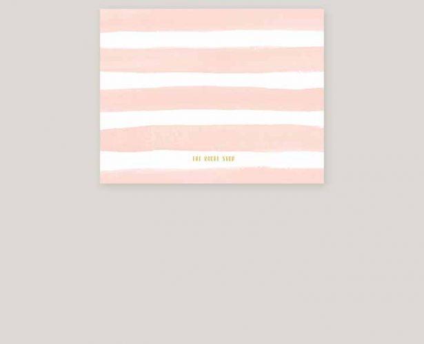 Blush watercolor stripes & gold wedding invitations