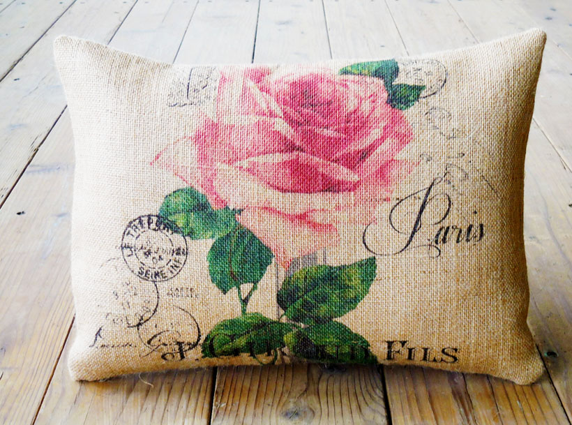 mothers day burlap pillow