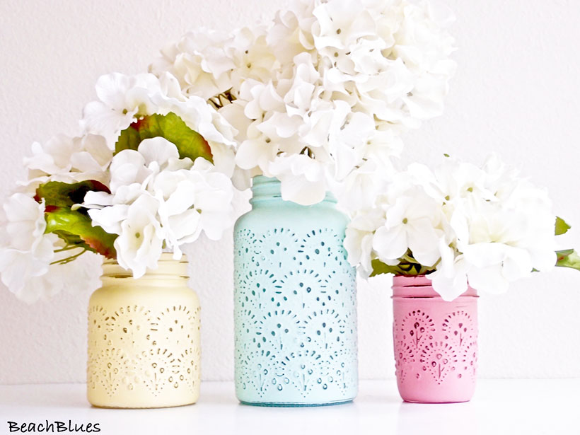 mothers day mason jar vase