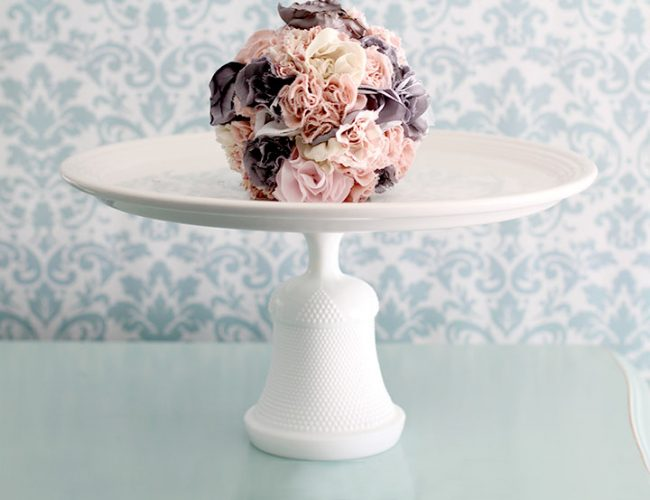 Hobnail bell cake stand