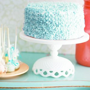 Lace diamond cake stand