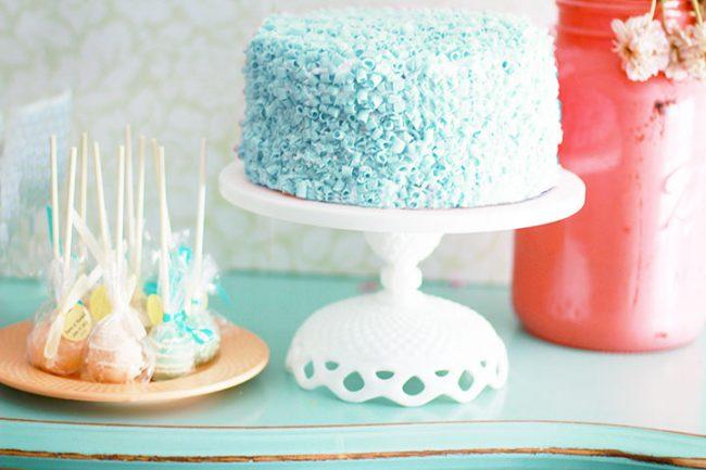 Lace diamond cake stand