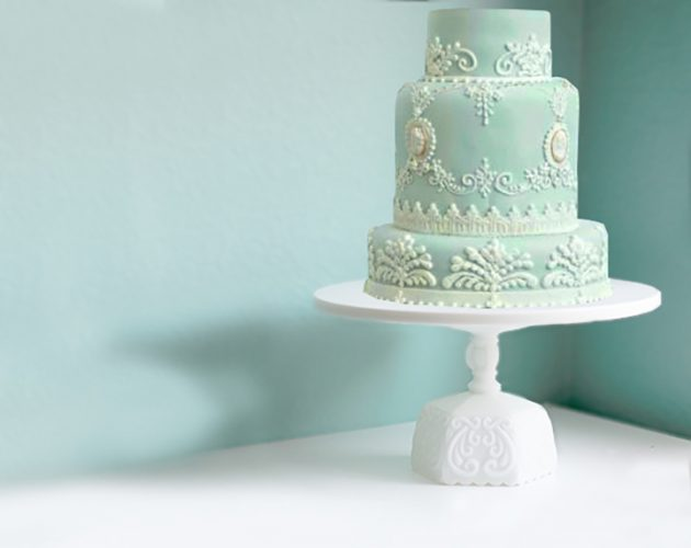 Vintage Scroll cake stand
