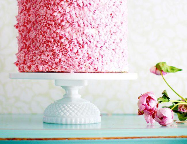 Petite diamond cake stand