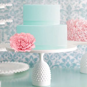 hobnail cake stand