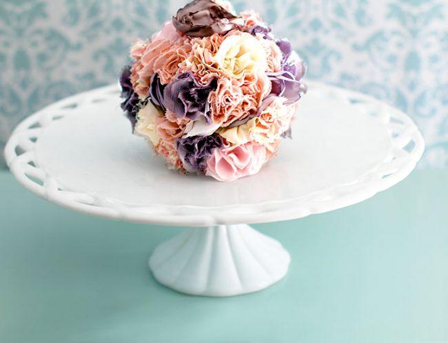 Vintage Lattice Milk Glass Cake Stand