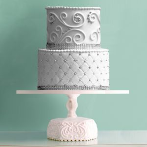 Ornate Scroll cake stand