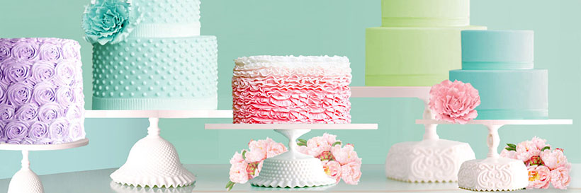 dessert table with handcrafted cake stands