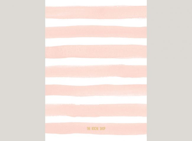 THE JOANNA Watercolor blush stripes save the date cards