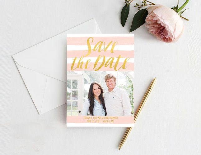 Chip and Joanna Gaines inspired Save the date cards