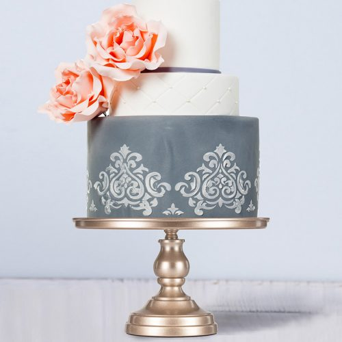 Champagne cake stand
