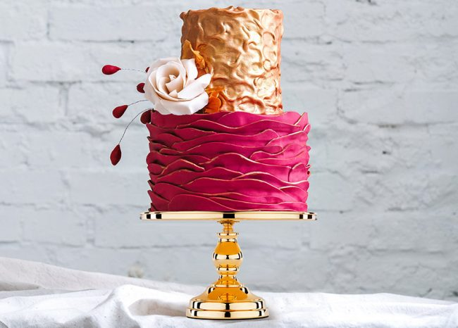 Metallic Gold Cake Stand