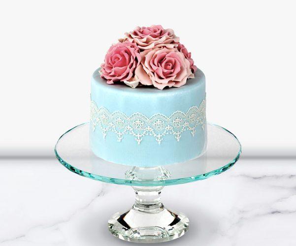 crystal glass cake stand