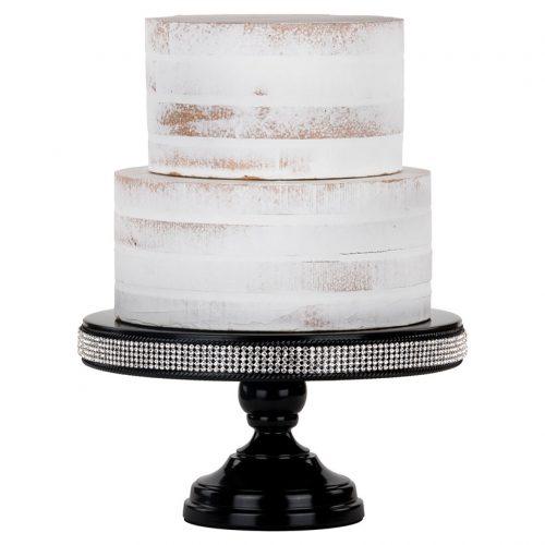 black rhinestone cake stand