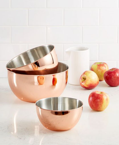 copper mixing bowl set