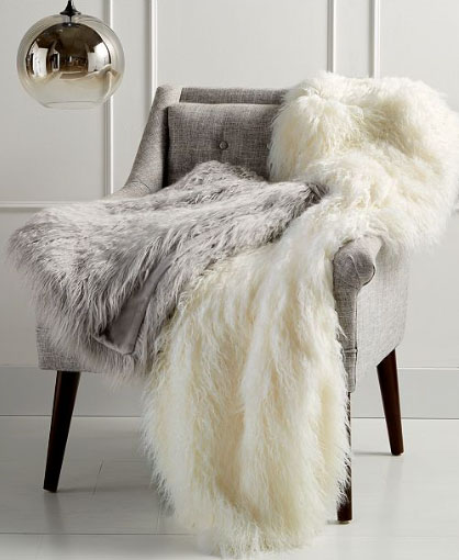 martha stewart faux mongolian fur throw