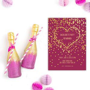 bachelorette party invitations the roche shop