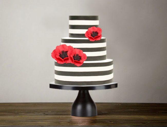 modern black cake stand