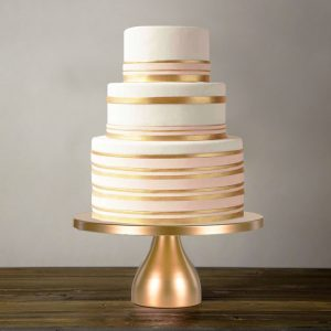 modern gold cake stand