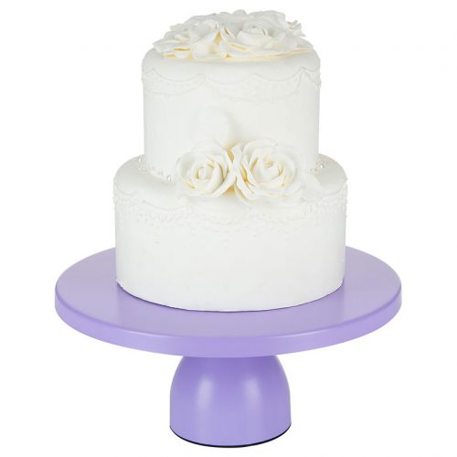 modern lavender purple cake stand