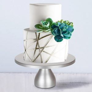Modern Silver Cake Stand