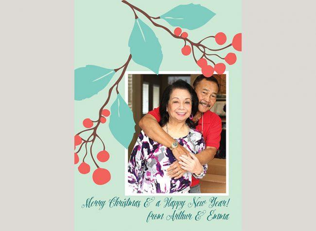 Berry merry Christmas card