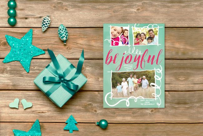 mint watercolor Christmas cards